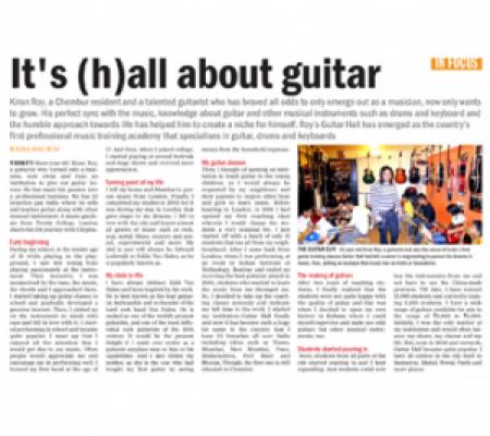 Kiran Roy featured in Mumbai Mirror